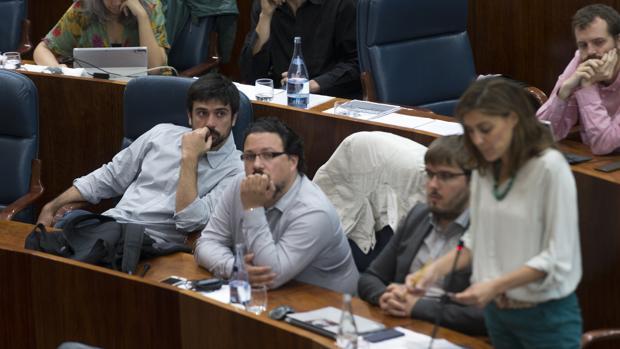 De izq. a dcha., Ramón Espinar, Jacinto Morano, Marco Candela y Lorena Ruiz-Huerta