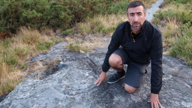 Petroglifo «Pedra da Serpe», en el municipio de Valga (Pontevedra)