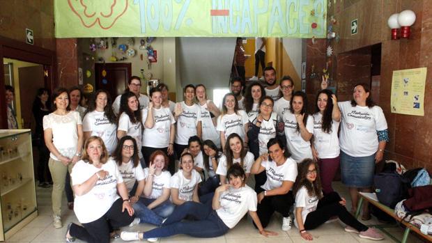 Alumnos y profesores del Grado Superior de Mediación Comunicativa del IES María Pacheco