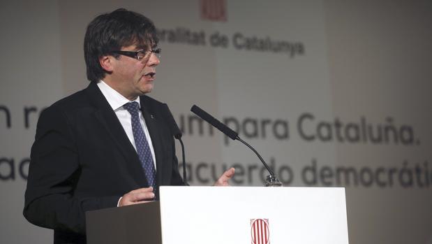 Carles Puigdemont, en el Ayuntamiento de Madrid