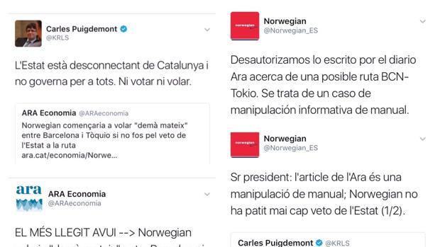 Hemeroteca: El «zasca» de una aerolínea a Puigdemont   Autor del artículo: Finanzas.com