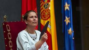 La presidenta del Gobierno de Navarra, Uxue Barcos