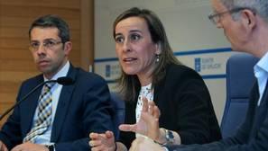 La conselleira de Infraestruturas, Ethel Vázquez, este martes en rueda de prensa