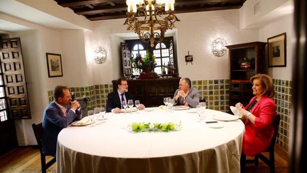 Mariano Rajoy almorzó con Pepe Álvarez en Burgo, junto a la ministra Báñez y Pedro Hojas, de UGT Industria