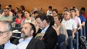 Miembros del Claustro de la URV, durante la reunión del pasado 1 de junio