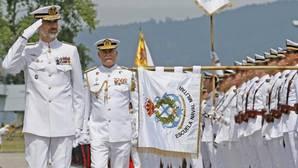 El Rey Felipe VI pasa revista antes del desfile