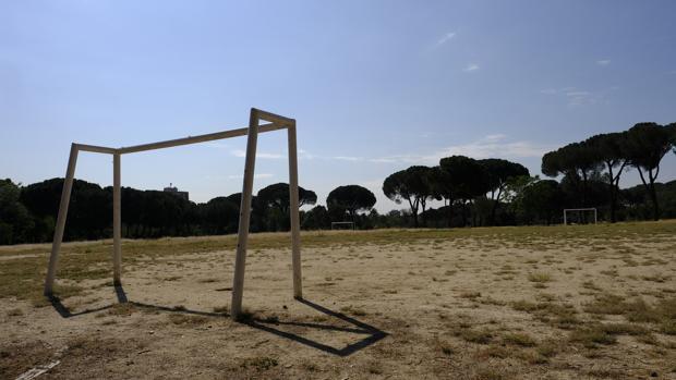 El campo de fútbol en el que se vivió la confraternización, en la Casa de Campo