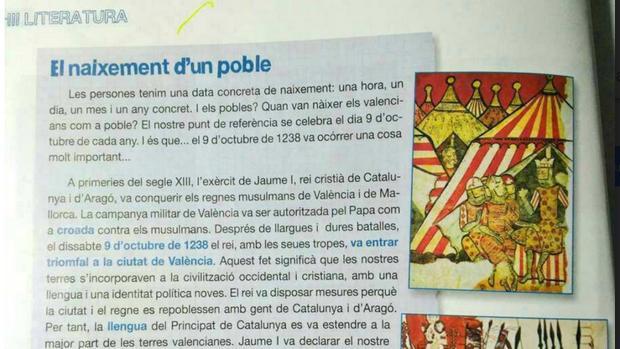 LAS DENUNCIAS POR ADOCTRINAMIENTO CATALANISTA EN VALENCIA LLEGAN AL MINISTERIO DE EDUCACION