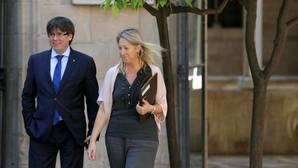 Puigdemont y Munté, esta mañana en el palacio de la Generalitat