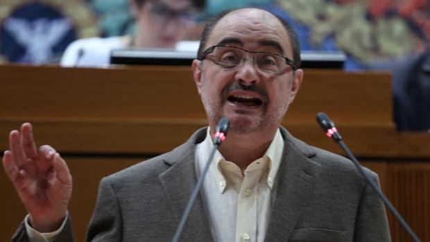 Javier Lambán, presidente del Gobierno aragonés y doctor en Historia