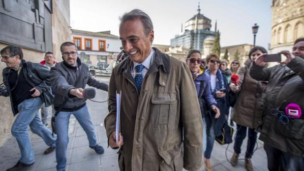 José Manuel Molina a su llegada al Juzgado el pasado mes de febrero