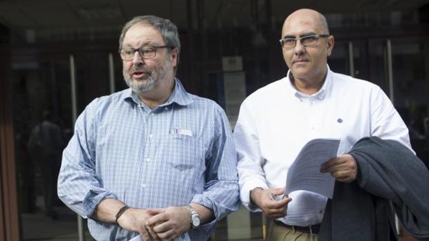 Barbero, concejal de Seguridad, junto a Serrano, director de la Policía