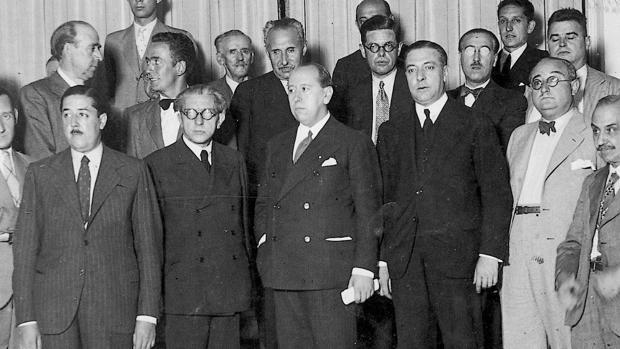 Gil-Robles y Quiñones, fotografiado en un cónclave político celebrado en Zaragoza en septiembre de 1934