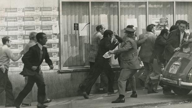 Altercados en Madrid durante la jornada del Primero de Mayo de 1977