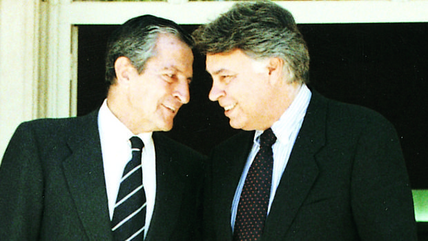 Adolfo Suárez y Felipe González, en una imagen de 1997