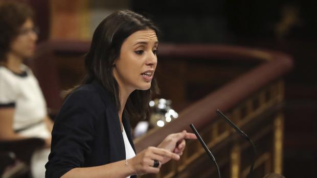 [XIII Legislatura] Debate de investidura de Pedro Sánchez. Mocion-censura-irene-montero-kf7C--620x349@abc