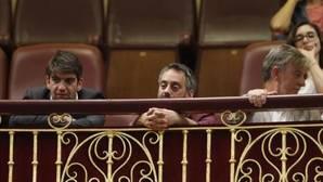 El alcalde de La Coruña ayer durante el debate de la moción de censura en el Congreso