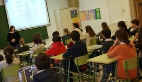 Escolares en una clase de un centro educativo