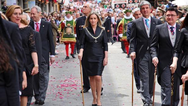MilagroS Tolón, en el desfile del Corpus del año pasado