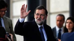 El presidente del Gobierno, Mariano Rajoy, este miércoles en el Congreso