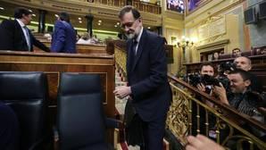 Mariano Rajoy en el pleno de moción de censura