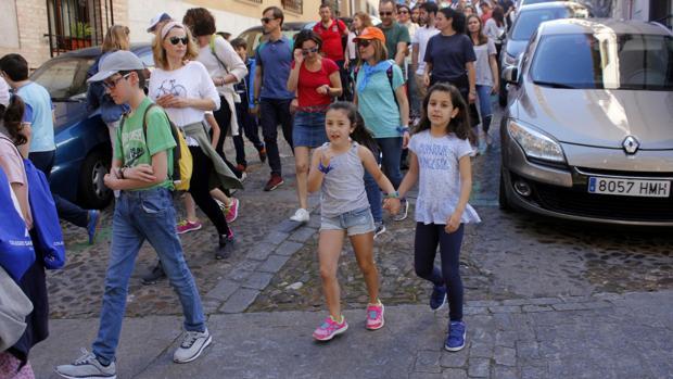 Marcha del colegio Santiago el Mayor de Toledo