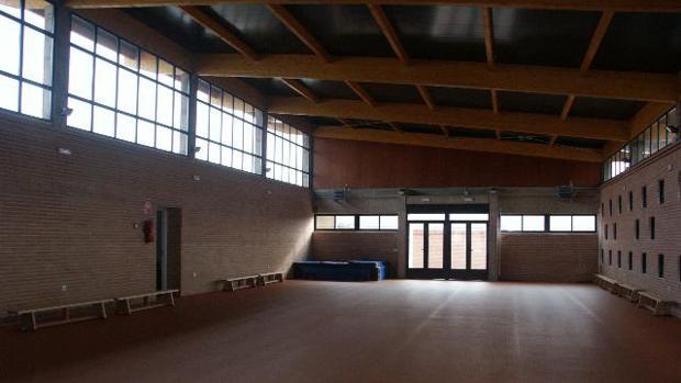 Gimnasio del colegio 'Clara Campoamor', en Miguelturra (Ciudad Real)