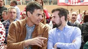 Pedro Sánchez y Luis Tudanca, en una imagen de archivo