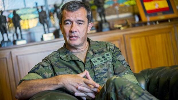 El coronel Marcos explica que en Toledo se forman los que van a ser oficiales y suboficiales de la especialidad de Infantería