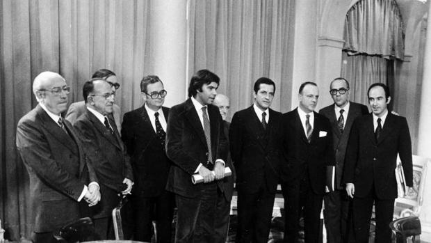 Los líderes de los partidos que se presentaron a las elecciones de 1977