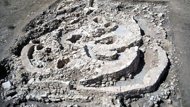 Vista aérea del yacimiento de Castillejo de Bonete