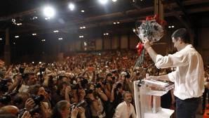 Pedro Sánchez durante el discurso de clausura del 39 Congreso Federal del PSOE, este domingo