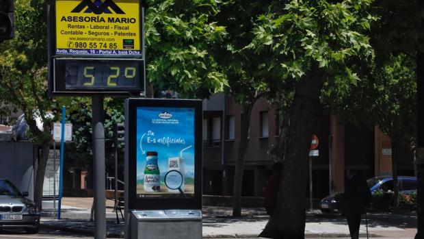 Un termómetro marca 52 grados en Zamora durante la ola de calor de esta semana EFE