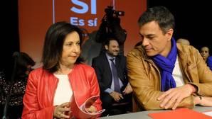 Robles junto a Sánchez, en la presentación de la candidatura de las pasadas primarias