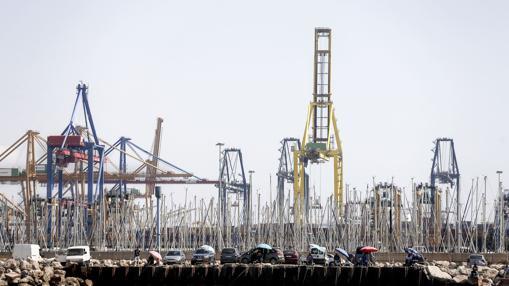 Imagen tomada este lunes en el puerto de Valencia