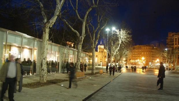 Acera de Recoletos, en Valladolid, donde tuvo lugar la agresión