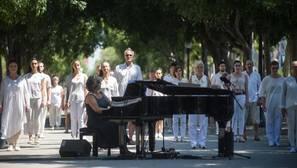 Un momento del homenaje organizado por el Ayuntamiento de Barcelona, el sábado