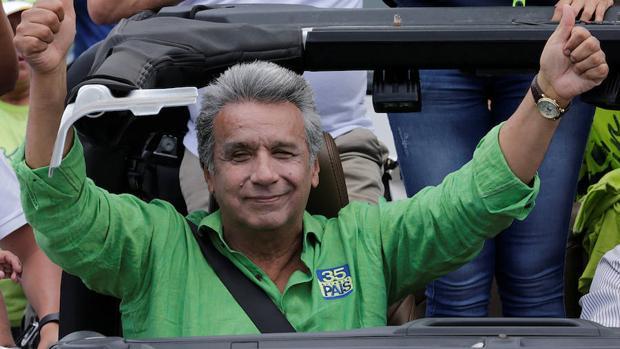 Lenín Moreno, presidente de Ecuador, durante la campaña electoral el pasado febrero