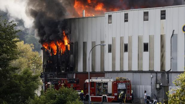 El incendio tuvo lugar en la localidad de Oiartzun