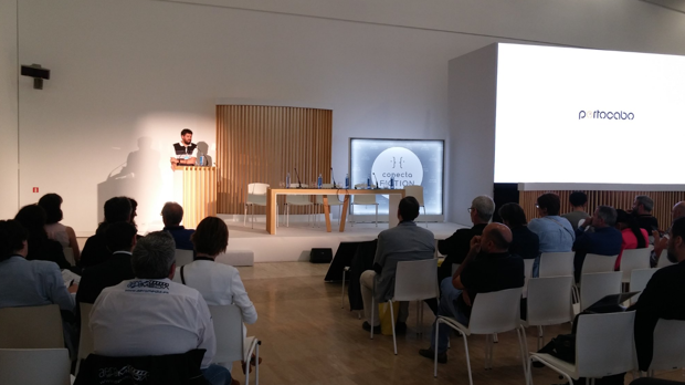El acto del Clúster Audiovisual Galego acogió presentaciones como la de Portocabo