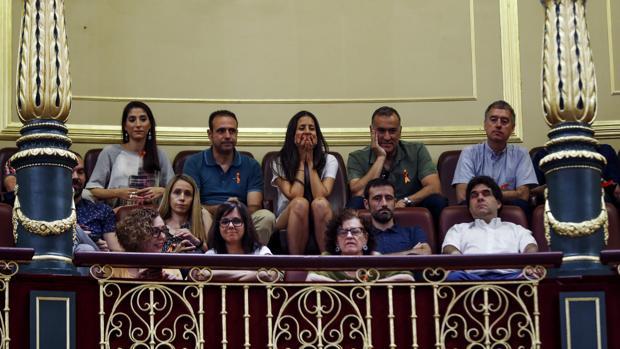 Representantes de RTVE, hoy en el Congreso