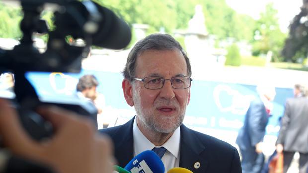 Mariano Rajoy, a su llegada a Bruselas