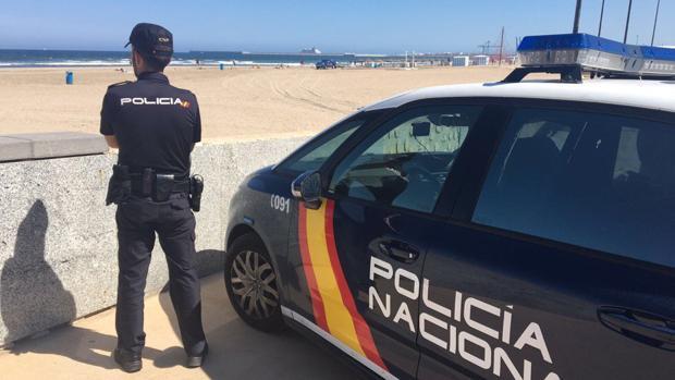 Imagen de la Policía Nacional en Valencia