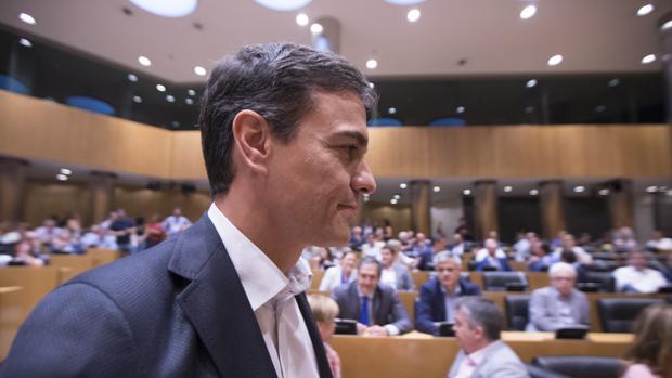 Pedro Sanchez se reune con los diputados y senadores del PSOE