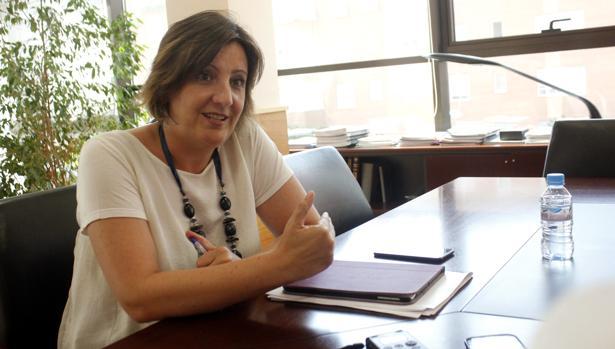 Patricia Franco, durante la entrevista