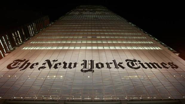 La sede de «The New York Times» en la ciudad que da nombre al periódico