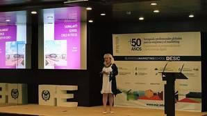 Imagen de la conferencia de Hanna Sarakorpi en ESIC de Valencia este miércoles