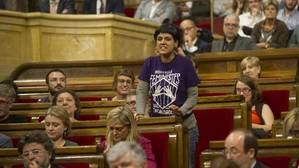 Bancada de la CUP en el Parlamento de Cataluña