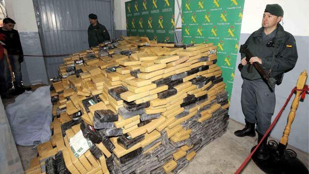 Alijo de 4.100 kilos de cocaína intervenidos en una fábrica de Elche, en imagen de archivo