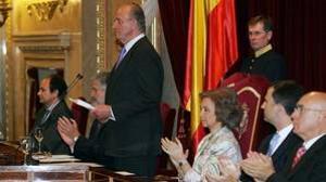 El Rey Don Juan Carlos, en el acto conmemorativo hace una década de los 30 años de las primeras elecciones